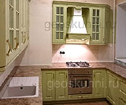 Светло-оливковая кухня