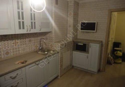 Прямая кухня Симона из массива ясеня