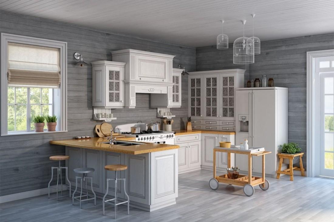 Американская мебель на кухне в Питере (1)