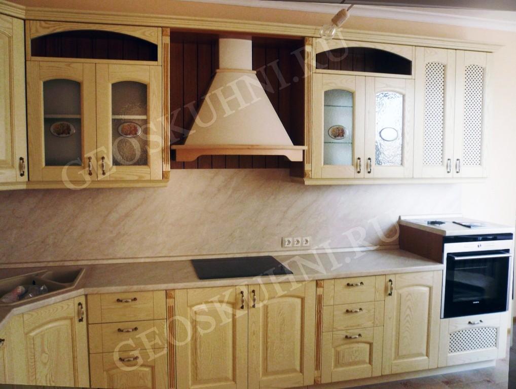 Кухня леда из массива ясеня