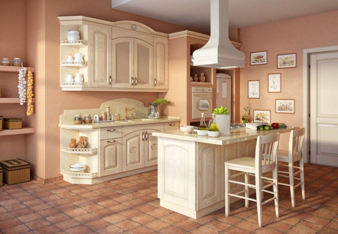 Многоликий и уютный стиль кантри для кухни