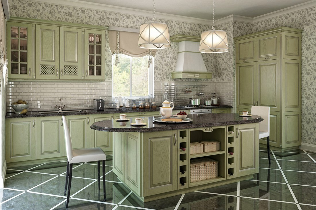 кухни в стиле прованс кухни геосидеал